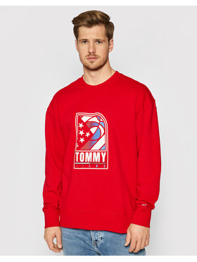 Tommy Jeans Tommy Jeans Суитшърт Tjm Basketball DM0DM10661 Червен Relaxed Fit
