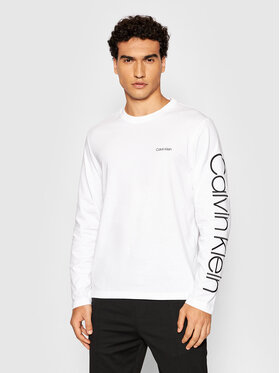 Calvin Klein Calvin Klein Longsleeve Logo K10K107156 Bianco Regular Fit