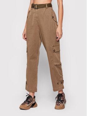 Pinko Pinko Kalhoty z materiálu Sentire 1Q10AD Y7P8 Zelená Regular Fit