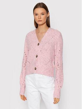 Tommy Jeans Tommy Jeans Kardigan Soft Neps DW0DW10999 Różowy Regular Fit