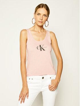 Calvin Klein Jeans Calvin Klein Jeans Felső Europe J20J213558 Rózsaszín Slim Fit