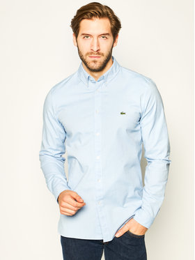 Lacoste Lacoste Camicia CH0763 Blu Regular Fit