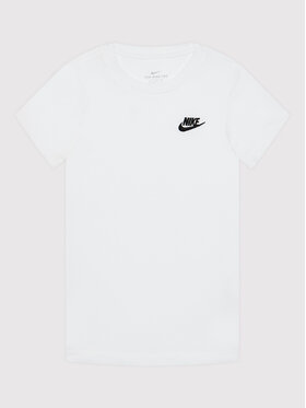 Nike Nike Тишърт Futura AR5254 Бял Standard Fit