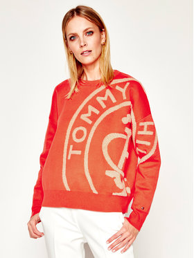 Tommy Hilfiger Tommy Hilfiger Pullover Bobbee Stamp Logo WW0WW27474 Orange Relaxed Fit