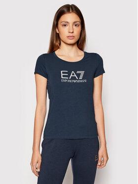 EA7 Emporio Armani EA7 Emporio Armani T-Shirt 8NTT63 TJ12Z 0540 Tmavomodrá Slim Fit
