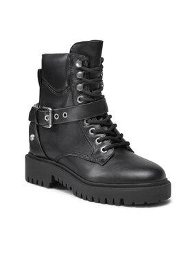 Guess Guess Členková obuv FL8OND LEA10 Čierna