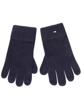 Tommy Hilfiger Tommy Hilfiger Herrenhandschuhe Pima Cotton Gloves AM0AM06591 Dunkelblau