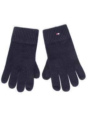 Tommy Hilfiger Tommy Hilfiger Pánské rukavice Pima Cotton Gloves AM0AM06591 Tmavomodrá