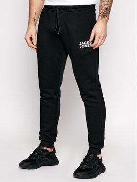 Jack&Jones Jack&Jones Teplákové kalhoty Gordon Newsoft 12178421 Černá Regular Fit