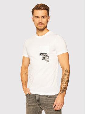 Calvin Klein Jeans Calvin Klein Jeans T-Shirt J30J316467 Biały Slim Fit