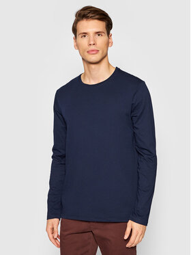 United Colors Of Benetton United Colors Of Benetton Longsleeve 3U53J1F05 Granatowy Relaxed Fit