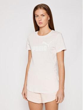 Puma Puma T-shirt Essential Logo Heather 852127 Rosa Regular Fit