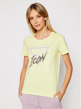 Guess Guess T-shirt Icon Tee W1RI25 I3Z00 Giallo Regular Fit