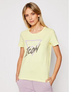 Guess Guess T-shirt Icon Tee W1RI25 I3Z00 Žuta Regular Fit