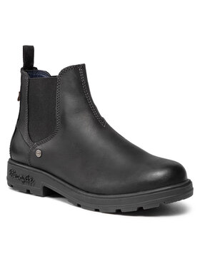 Wrangler Wrangler Kotníková obuv s elastickým prvkem Buddy WM12030A Černá