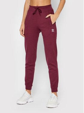 adidas adidas Spodnie dresowe adicolor Essentials H37879 Bordowy Slim Fit