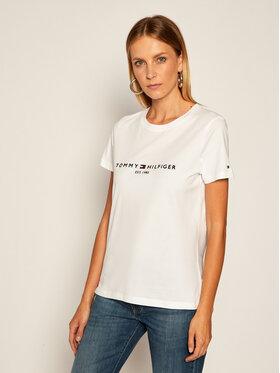 TOMMY HILFIGER TOMMY HILFIGER T-Shirt Th Ess Tee WW0WW28681 Λευκό Regular Fit