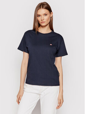 Napapijri Napapijri T-shirt Salis Ss W 2 NP0A4FSL Tamnoplava Regular Fit