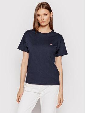 Napapijri Napapijri T-Shirt Salis Ss W 2 NP0A4FSL Tmavomodrá Regular Fit