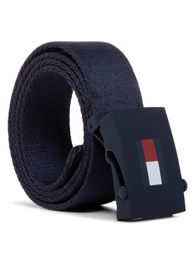 Tommy Hilfiger Tommy Hilfiger Ζώνη παιδική Kids Plaque Belt AU0AU00991 Σκούρο μπλε