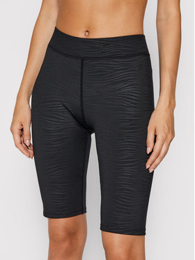 4F 4F Sportske kratke hlače H4L21-LEG015 Crna Slim Fit