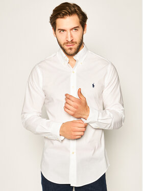 Polo Ralph Lauren Polo Ralph Lauren Πουκάμισο Classics 710705269 Λευκό Slim Fit