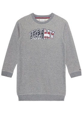 TOMMY HILFIGER TOMMY HILFIGER Hétköznapi ruha Americana Logo KG0KG05438 D Szürke Regular Fit