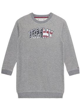 TOMMY HILFIGER TOMMY HILFIGER Sukienka codzienna Americana Logo KG0KG05438 D Szary Regular Fit