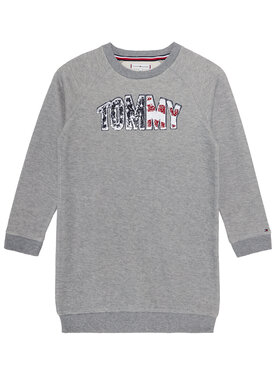 TOMMY HILFIGER TOMMY HILFIGER Vestito da giorno Americana Logo KG0KG05438 D Grigio Regular Fit
