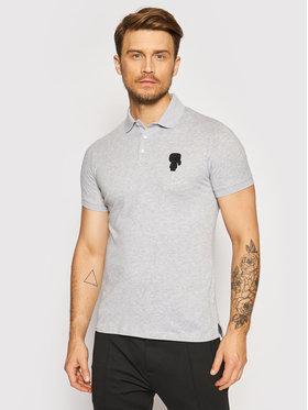 KARL LAGERFELD KARL LAGERFELD Тениска с яка и копчета 745024 511223 Сив Regular Fit