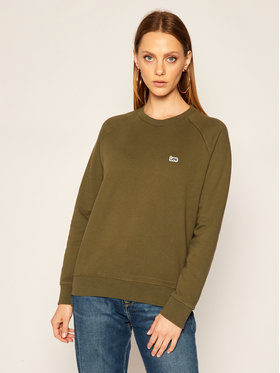Lee Lee Bluza Plain Crew Neck Sws L53RTXNX Zielony Regular Fit