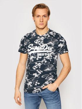 Superdry Superdry T-Shirt Vl Aop M1010999A Granatowy Regular Fit