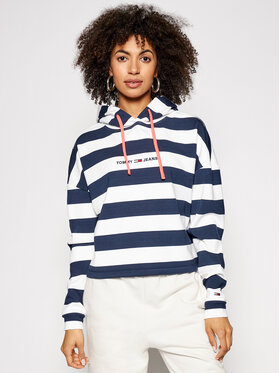 Tommy Jeans Tommy Jeans Džemperis Bxy Stripe DW0DW09921 Tamsiai mėlyna Relaxed Fit
