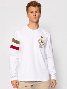 Aeronautica Militare Aeronautica Militare Тениска с дълъг ръкав 212TS1891J469 Бял Regular Fit