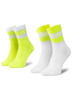 Levi's® Levi's® Lot de 2 paires de chaussettes hautes femme 37157-0408 Jaune