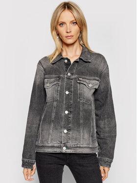 Tommy Jeans Tommy Jeans Traper jakna Trucker DW0DW10260 Siva Oversize