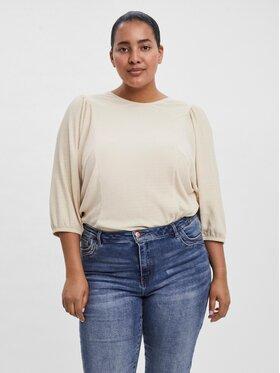 Vero Moda Curve Vero Moda Curve Блуза Rosi 10252101 Бежов Regular Fit