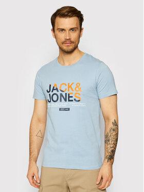 Jack&Jones Jack&Jones Póló Slices 12188068 Kék Slim Fit