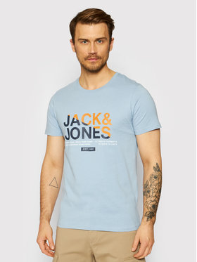 Jack&Jones Jack&Jones T-Shirt Slices 12188068 Modrá Slim Fit