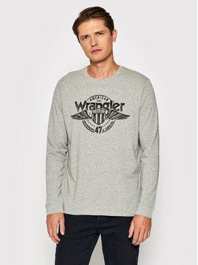 Wrangler Wrangler Longsleeve Ls Americana Tee W7J5D3X37 Grau Regular Fit
