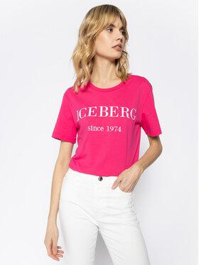 Iceberg Iceberg T-Shirt 20EI1P0F09A6331 Różowy Regular Fit