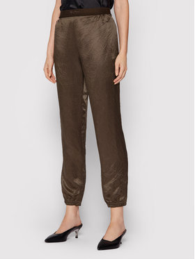Max Mara Leisure Max Mara Leisure Pantalon en tissu Balzac 31360216 Marron Regular Fit