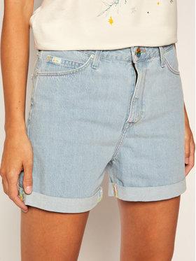 Lee Lee Džínsové šortky Mom L37MKESJ Modrá Regular Fit