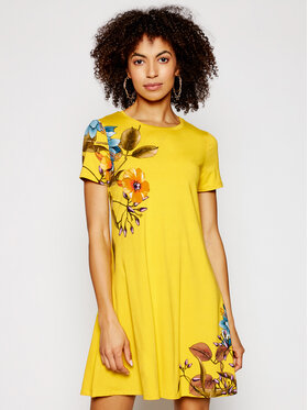 Desigual Desigual Sukienka codzienna Vegas 21SWVKAG Żółty regular_fit