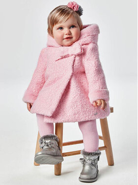 Mayoral Mayoral Cappotto in shearling 2435 Rosa Regular Fit