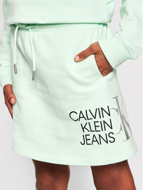 Calvin Klein Jeans Calvin Klein Jeans Suknja Hybrid Logo IG0IG00990 Zelena Regular Fit