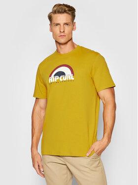 Rip Curl Rip Curl Тишърт Surf Revival Decal CTEUJ9 Жълт Standard Fit