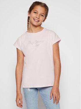 Pepe Jeans Pepe Jeans T-shirt Nuria PG502460 Ružičasta Regular Fit