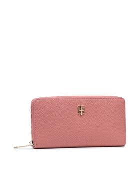 Tommy Hilfiger Tommy Hilfiger Великий жіночий гаманець Th Soft Large Za Wallet AW0AW10221 Рожевий