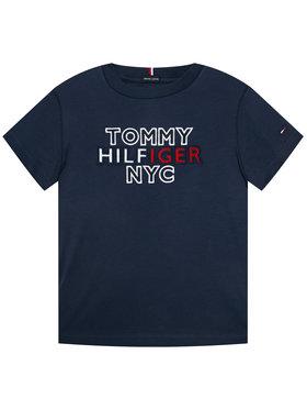 TOMMY HILFIGER TOMMY HILFIGER T-Shirt Th Nyc Graphic Tee KB0KB05848 D Dunkelblau Regular Fit